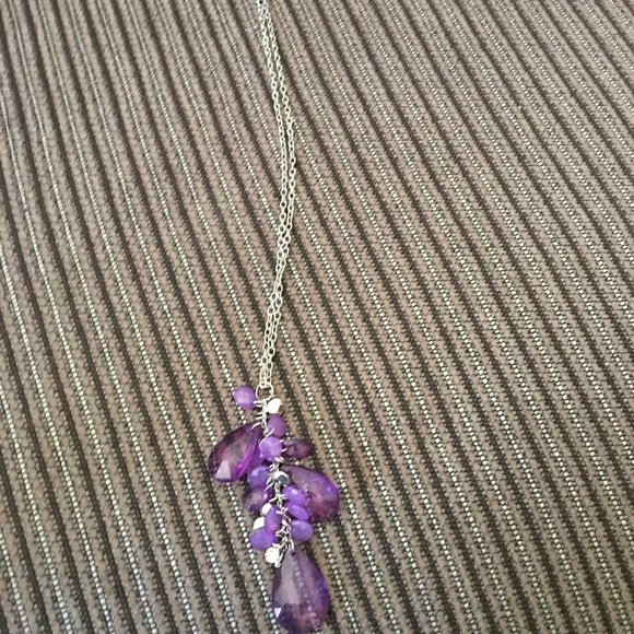 7 for $20 purple & silver necklace